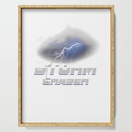 Geographical Storm Chasing Weather Condition Gift Storm Chaser Serving Tray