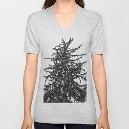 Snow Covered Pine Tree Unisex V-Neck
