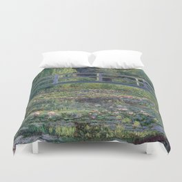 Water Lilies and the Japanese Bridge by Claude Monet Duvet Cover