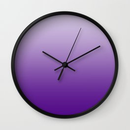 Pastel Violet to Violet Horizontal Linear Gradient Wall Clock