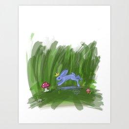 Lilac Bunny King Art Print