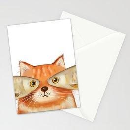 Fish Eyes Cat Stationery Cards