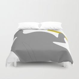 Angel with scroll Duvet Cover