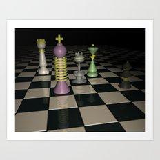 Chess Set. Art Print