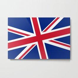 Union Jack Diagonal Metal Print