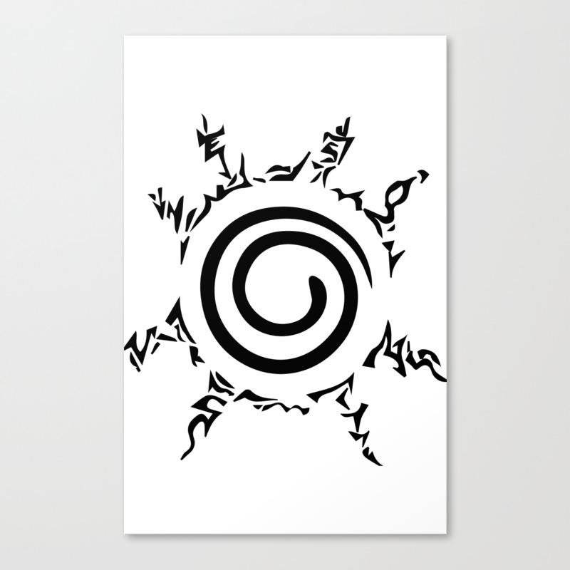 Naruto Seal Canvas Print By Princeofdarkness Society6