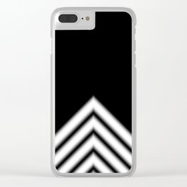 Black White Stripe Clear iPhone Case