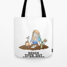 Live Your Life on Purpose, Illustration Tote Bag