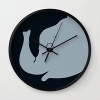 dumbo Wall Clocks featuring Dumbo by Citron Vert