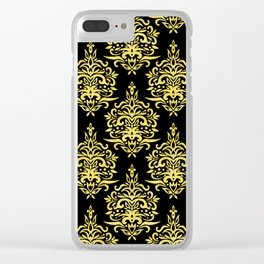 Art Deco Gold and Black Elegance Design Clear iPhone Case