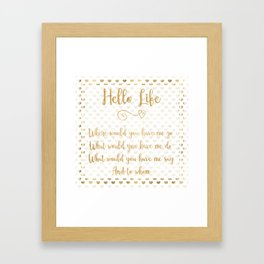 a course in miracles life path declaration heart frame Framed Art Print