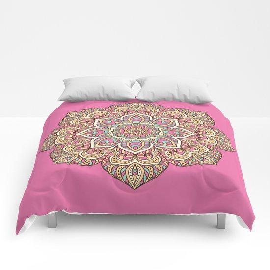 Pink Mandala Comforters