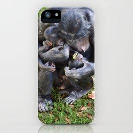 Bonobo Family Moment iPhone Case