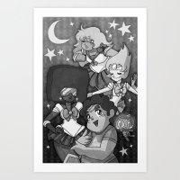 sailormoon Art Prints featuring SU SailorMoon by Ravenno