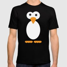 Minimal Penguin MEDIUM Mens Fitted Tee Black