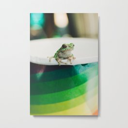 Frog of Many Colors Metal Print