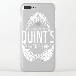 Shark fishing - Amity island Clear iPhone Case