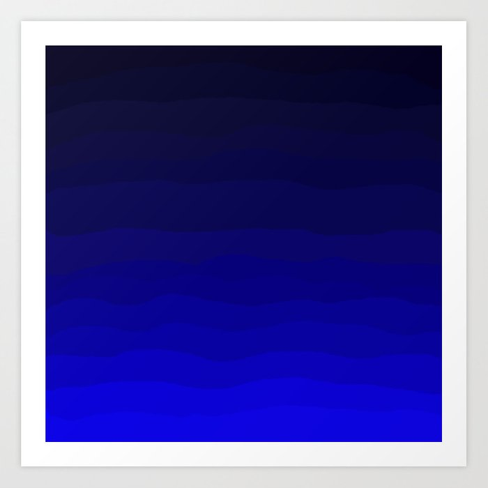 Deep Rich Sapphire Ombre Art Print