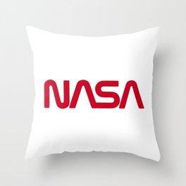 Red Nasa Throw Pillow