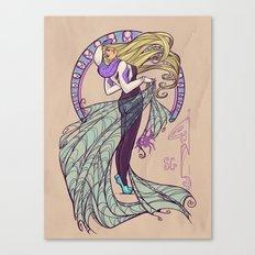 Spider Nouveau Canvas Print