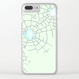 Bullet Holes in Glass Clear iPhone Case