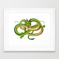 dragon ball Framed Art Prints featuring Shenron Dragon ball by OverClocked