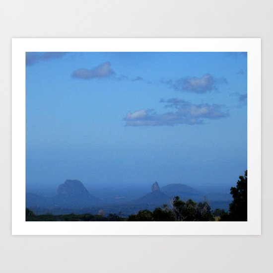 Glasshous mountains  Art Print