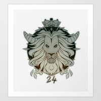 leo Art Prints featuring leo by andrahilde
