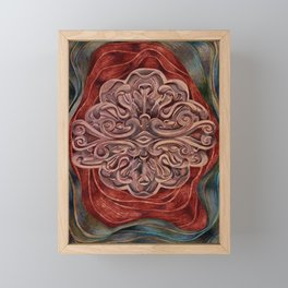 Rosette Medallion Framed Mini Art Print