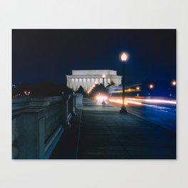 Traffic At Night On The Memorial Bridge Canvas Print