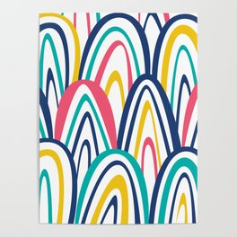 Arched Stripes Poster