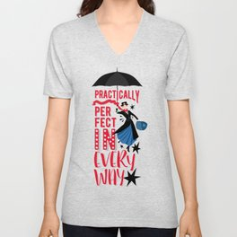 Mary Poppins Quote Unisex V-Neck