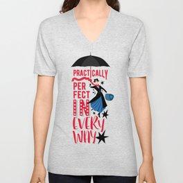 Mary Poppins Quote Unisex V-Neck