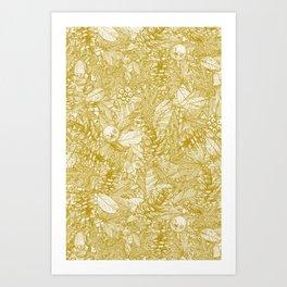 forest floor gold ivory Art Print