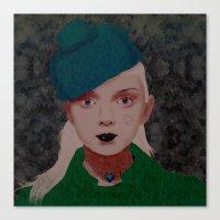 noir Canvas Prints featuring Noir by Eveline
