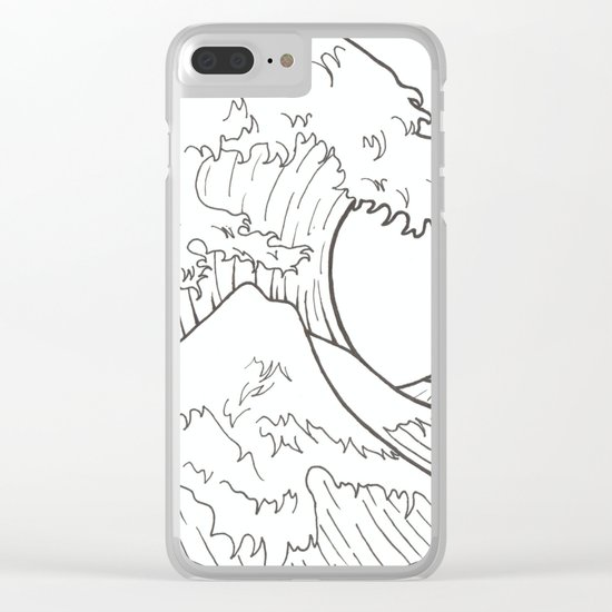 The wave of Kanagawa Clear iPhone Case