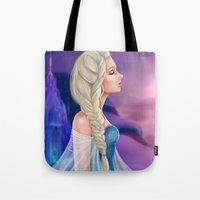 elsa Tote Bags featuring Elsa by Jolenebydesign