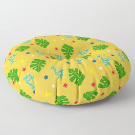 Ma-Ma Monstera: Mustard Seed Floor Pillow
