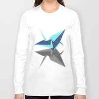 origami Long Sleeve T-shirts featuring Origami by Red 99