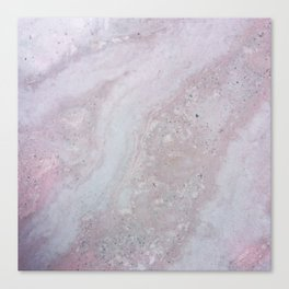 Elegant Pink Polished Marble Canvas Print