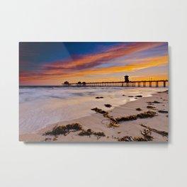 Sunset Huntington Beach Pier  6/2/14 Metal Print