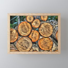 Logs for the Fireplace Framed Mini Art Print