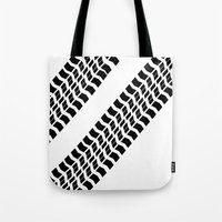 truck Tote Bags featuring Tyre Truck by Arhipelago
