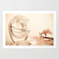 globe Art Prints featuring Globe by INK Photos