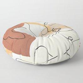 Developed Faces 01 Floor Pillow