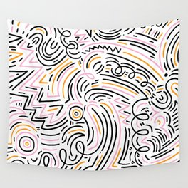 squiggle wiggles Wall Tapestry