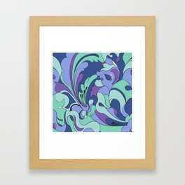Mod Squad Blue Framed Art Print