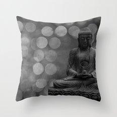 buddha light (gray) Throw Pillow