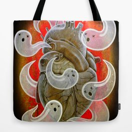 """A HEART FULL OF GHOSTS"" Tote Bag"
