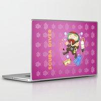 scuba Laptop & iPad Skins featuring Scuba dive by Alapapaju